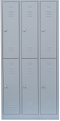 Lockers with with 2 doors per compartment