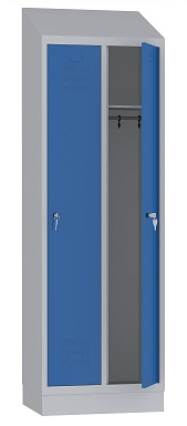 Locker with pitch roof