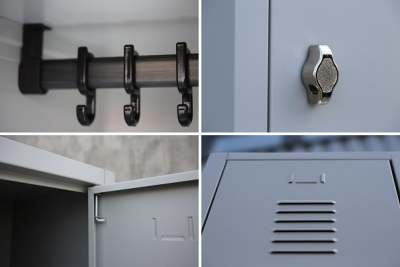 Locker 885 mm wide with three doors